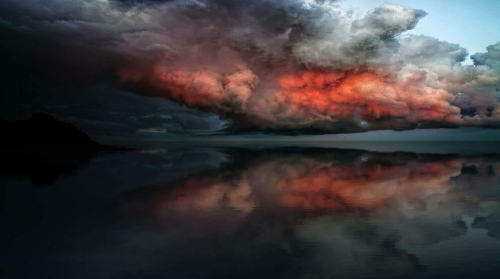Storm over an ocean